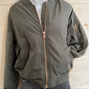 {asos} sherpa lined bomber jacket
